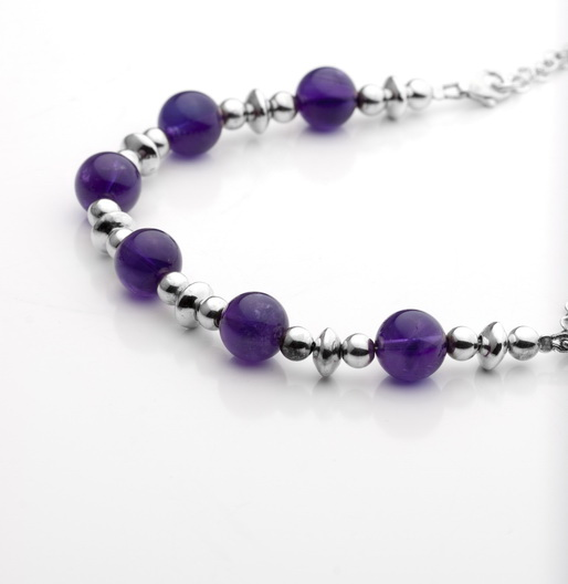 AMETHYST BEADS NECKLATE
